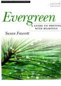 Cover of: Evergreen; a Guide to Writing with Readings