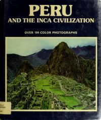 Cover of: Peru and the Inca civilization | M. Wiesenthal